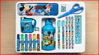 Đồ chơi trẻ em BỘ DỤNG CỤ HỌC TẬP MICKEY 17 MÓN, bình nước, hộp bút, màu vẽ -Toys kids (Chim Xinh)