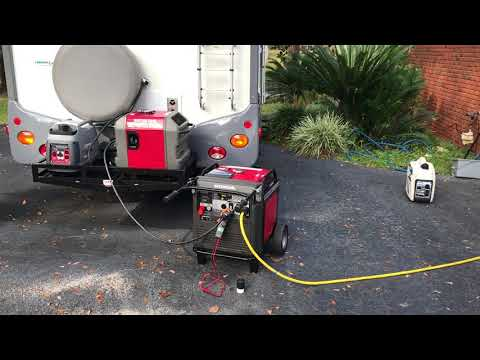 Parallel operation of different sized generators Honda EU 7000is and a Eu3000is Honda