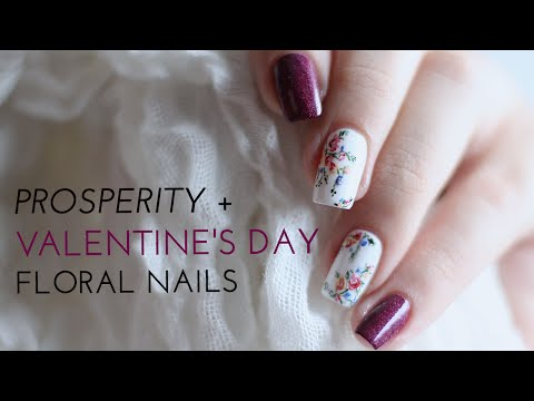 Colourful (& Prosperous) Valentine's Day Floral Nail Art | Annabel Lee