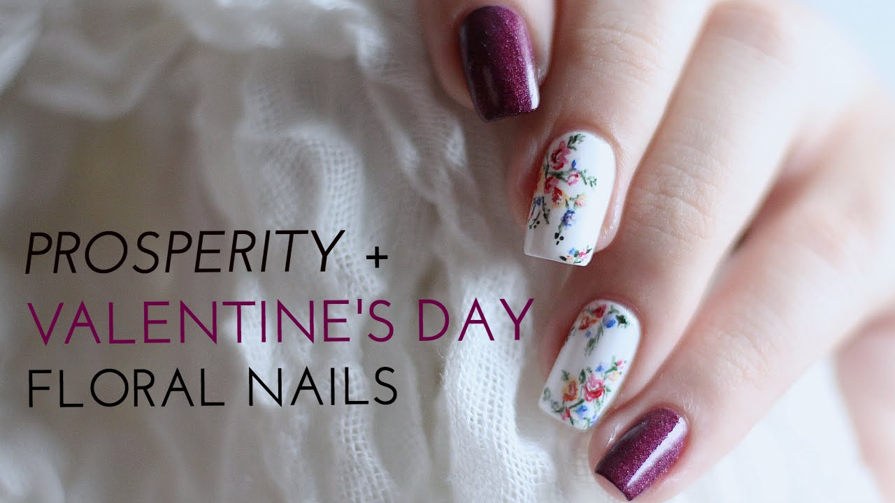 Colourful (& Prosperous) Valentine\'s Day Floral Nail Art   Annabel ...