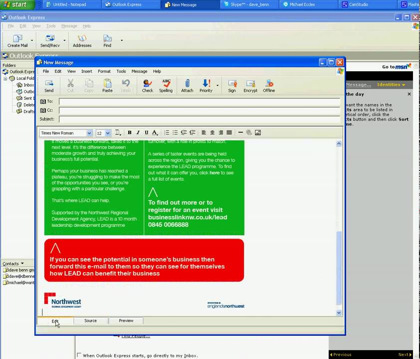 How to Create HTML Email in Outlook Express (OE) Email Client - YouTube