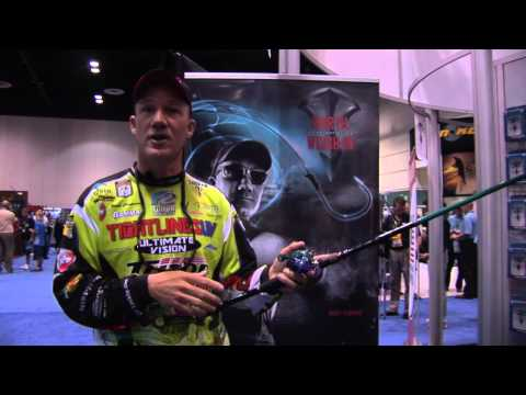 Brent Chapman  Wright Mcgill Rick Clunn Rods and Reels  ICAST 2012