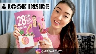 A preview and review of kayla itsines 28 day healthy eating lifestyle guide book by @miakayfitness. if you like the video, don't forget to give it thum...