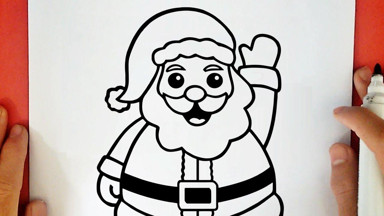 Bambini Babbo Natale Disegno.Come Disegnare Babbo Natale Youtube