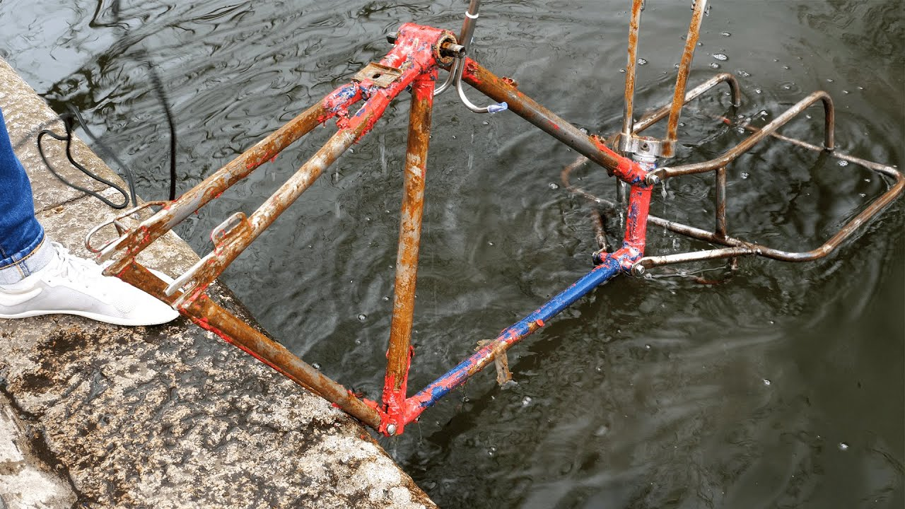 e-Restoration  |  Rusty Canal Find into Electric Bike