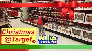 Kid very excited about Christmas Decorations at Target 2018 - Willy