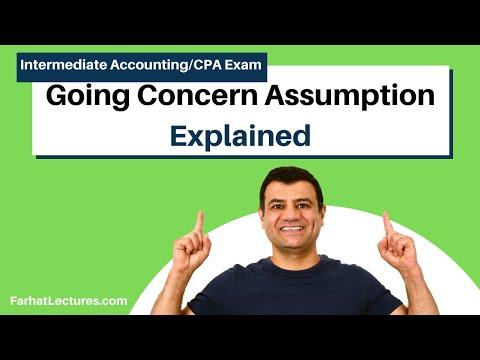 Going Concern Assumption l Intermediate Accounting l CPA Exam FAR