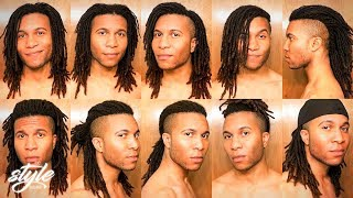 10 QUICK DREADLOCK STYLES | In 30 Seconds Or Less