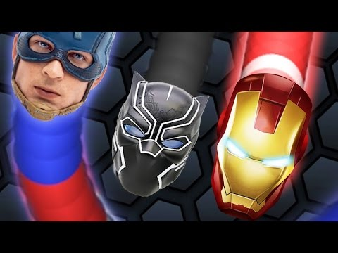 JAO CLAN // IRONMAN VS CAPTAIN AMERICA! // NEW SKINS // SLITHER.IO