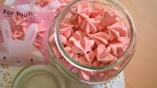 Bánh meringue bông hoa giòn xốp/meringue cookies