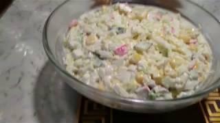 Салат с пекинской капустой и крабовыми палочками за 15 МИНУТ!