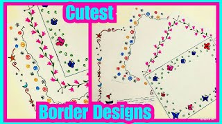 border designs on paper | project file decoration ideas | project designs | border design | frames