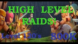 Clash of Clans: High level Raid - Level 120's! - Jody vs. Theresia (800K+ Loot 100%)