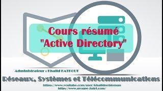 """Cours résumé """"Active Directory"""" (KHALID KATKOUT)"""