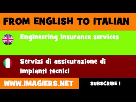 FROM ENGLISH TO ITALIAN = Engineering insurance services