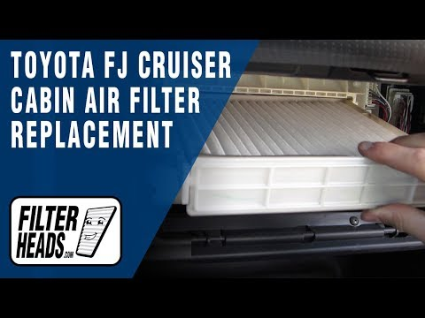 How to Replace Cabin Air Filter Toyota FJ Cruiser
