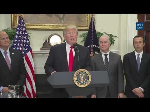 President Trump Makes 'Major' Announcement On Pharmaceutical Initiative 7-21-17 17