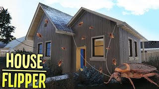 House Flipper - Buying My First Home! - Cockroach Infestation - House Flipper Gameplay Part 1
