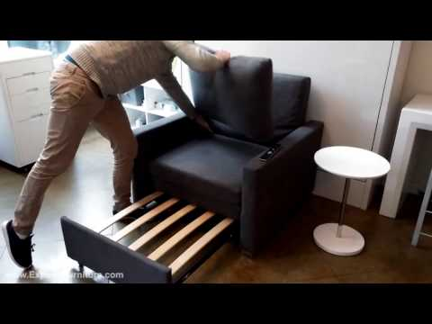 Harmony Single Sleeper Sofa With Memory Foam Demonstration