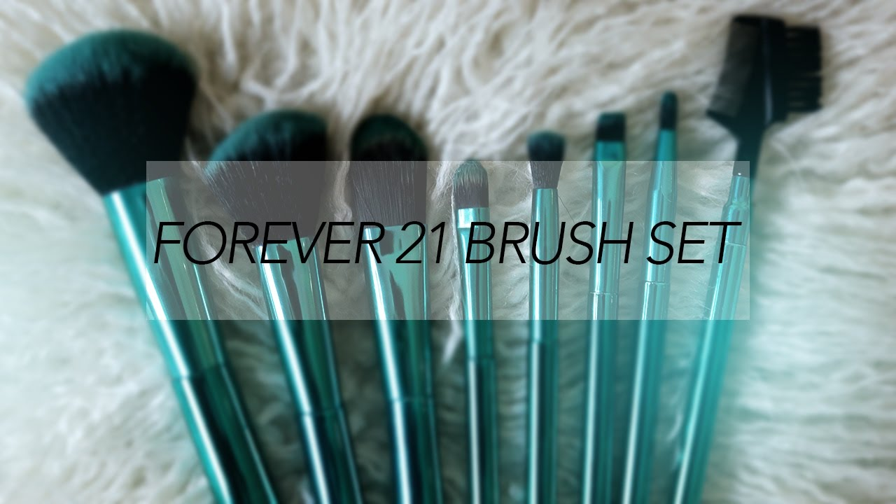 64450cd8689 Forever 21 Make Up Brushes | Review + First Impression - YouTube