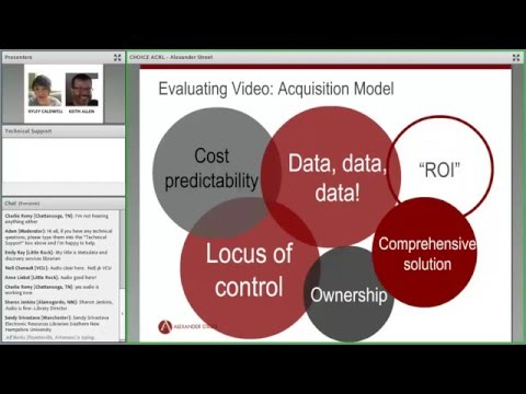 ACRL/Choice Webinars: Subscription-to-Own Vs. PDA: A Closer Look at Video Acquisition Models in 2016
