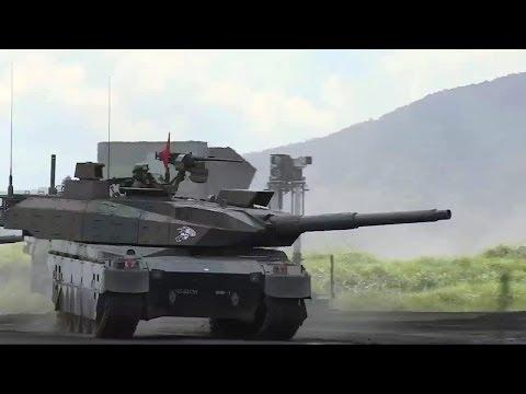 JGSDF - Type 10 Main Battle Tank & OH-1 Ninja Observation Helicopter [720p]