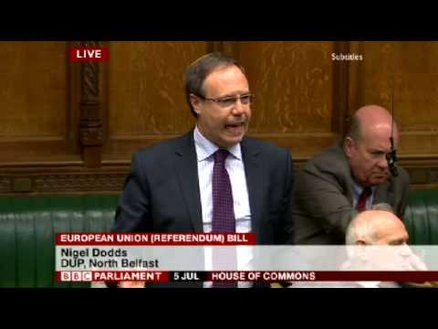 Nigel Dodds   EU Referendum Bill Debate