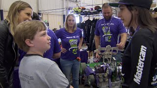 Exclusive online footage you won't see on TV. Jenny gives a BattleBots super fan a special treat!