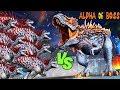 Alpha 06 T.Rex Boss vs Indominus Rex Level 999 - Jurassic World New Halloween Update Hack Dinosaur