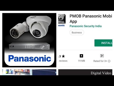 How To Online Panasonic Cctv DVR Using Wifi And Pmob Mobile App Setting.
