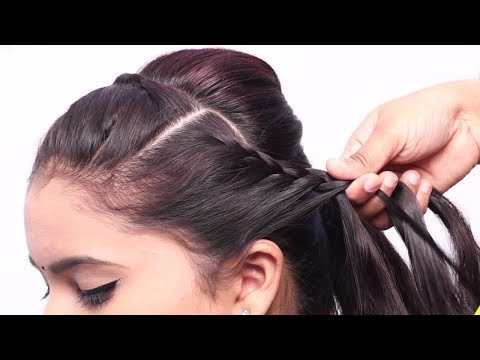 New Twisted Braid Hairstyle for party | Hairstyles for log hair girls | Hair style girl #hairstyles thumbnail