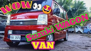 SUZUKI WAGON VAN (electric sliding)Candytone Red