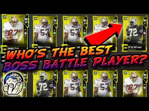 Are The Boss Battle Players Any Good? I still Have Ed Too Tall Jones 99 OVR Madden 18 Ultimate Team