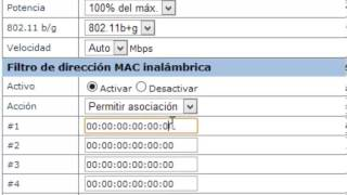 Configurar Modem infinitum ssid , contraseña , tipo de seguridad y filtrado mac