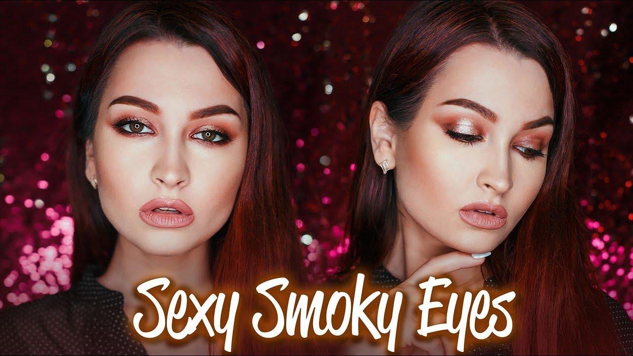 Макияж Smokey Eyes Урок - ПОШАГОВО • Cмоки в теплых тонах с пигментом •. Ответы на различные игры в социальных сетях