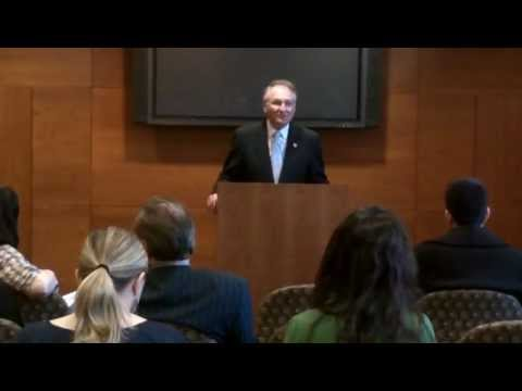Nassau County Comptroller George Maragos speaks to law students at St. John's University, 2012.MOV