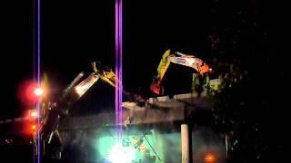 bridge demolition eavy equipment wrecking