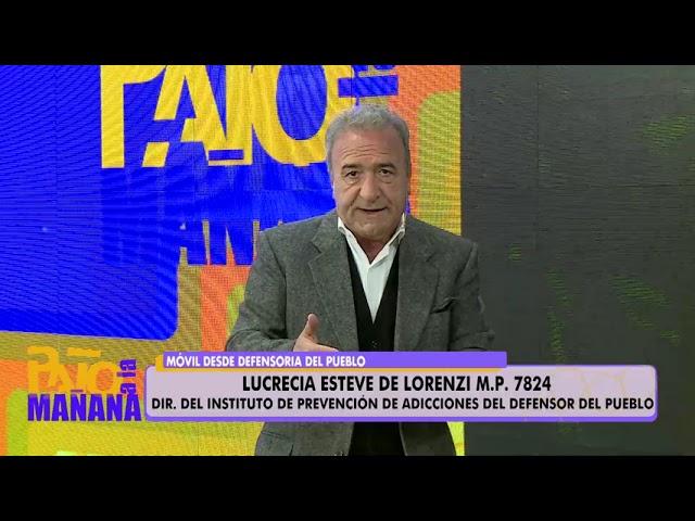 Prevención de las adicciones con la Lic. Lucrecia Esteve de Lorenzini.