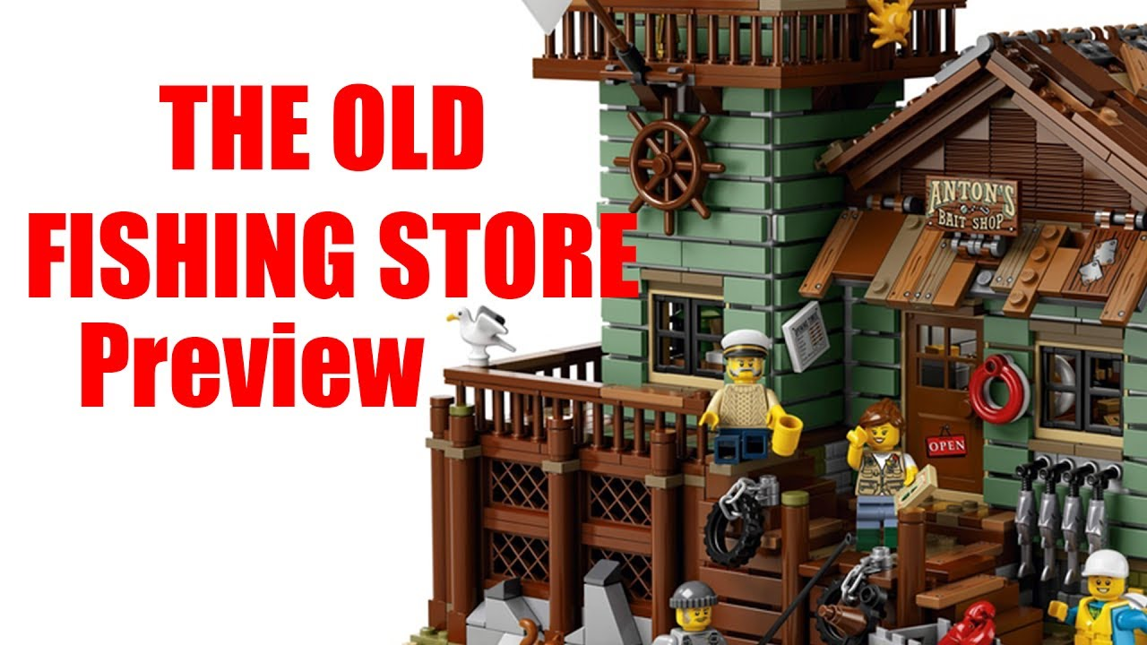 The old fishing store lego ideas preview youtube for Lego ideas old fishing store