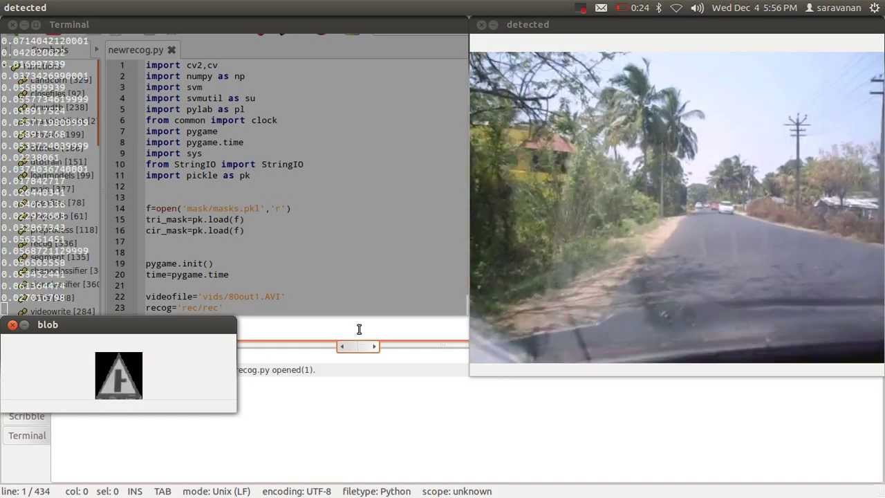 Automatic Road Sign Recognition system using Python OpenCV