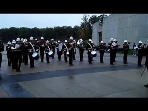 British Royal Marines Band at the National Museum of the Marine Corps