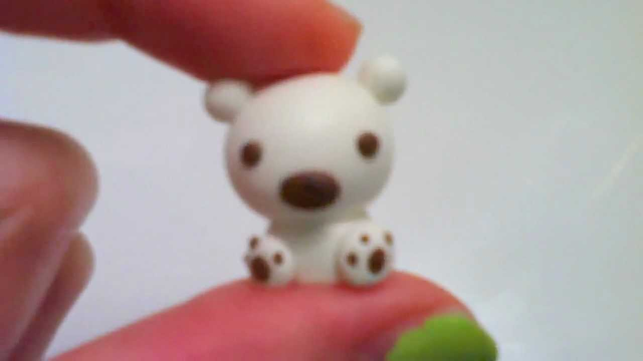 Christmas clay tutorial cute baby polar bear charm youtube for Cute things to make out of clay