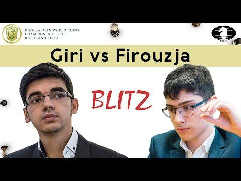 Anish Giri vs Alireza Firouzja   World Blitz Championship 2019  