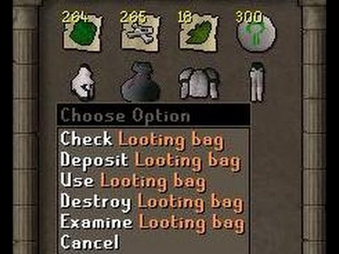 how to use bag of looting