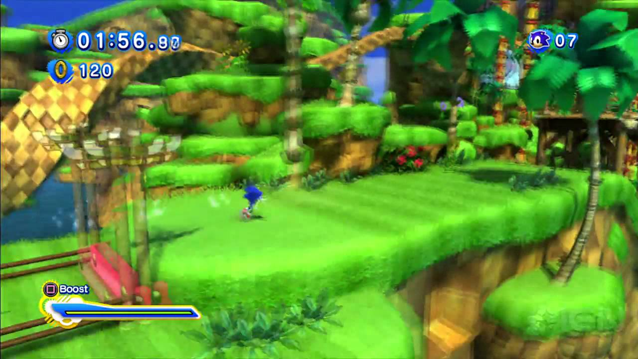 Jungle Wallpaper 3d Sonic Generations Green Hill Zone Act 2 Modern Sonic