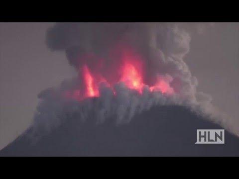 THAR SHE BLOWS! Watch Indonesia's Mount Soputan erupt