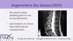 Back Pain Treatment for Degenerative Disc Disease at Georgia Pain Clinics