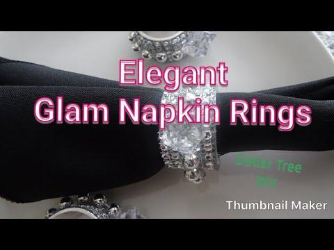 How To DIY Elegant Glam Napkin Rings   Dollar Tree DIY