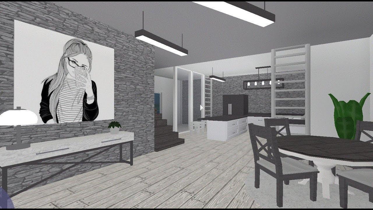 20k Aesthetic House Build Bloxburg Roblox Youtube