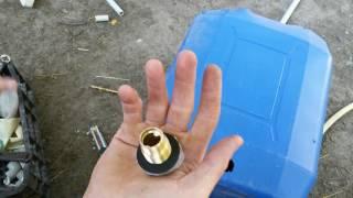 Врезка штуцера в пластиковую бочку/канистру своими руками
